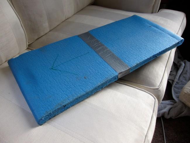 ... and sewed quadruple layer ballistics nylon pockets for each end.
