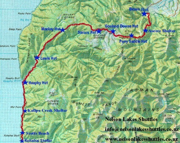 heaphy_track_map