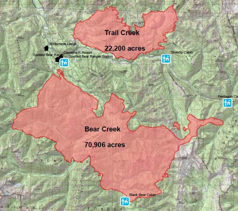 North Bob Marshall Forest Fire Roundup Bedrock Paradox